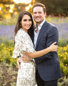 Kalize and Clay's Engagement Portraits at the Dallas Arboretum