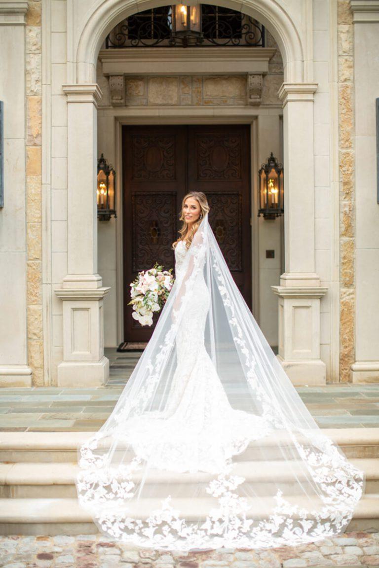 Staircase Veil Bridal Portrait
