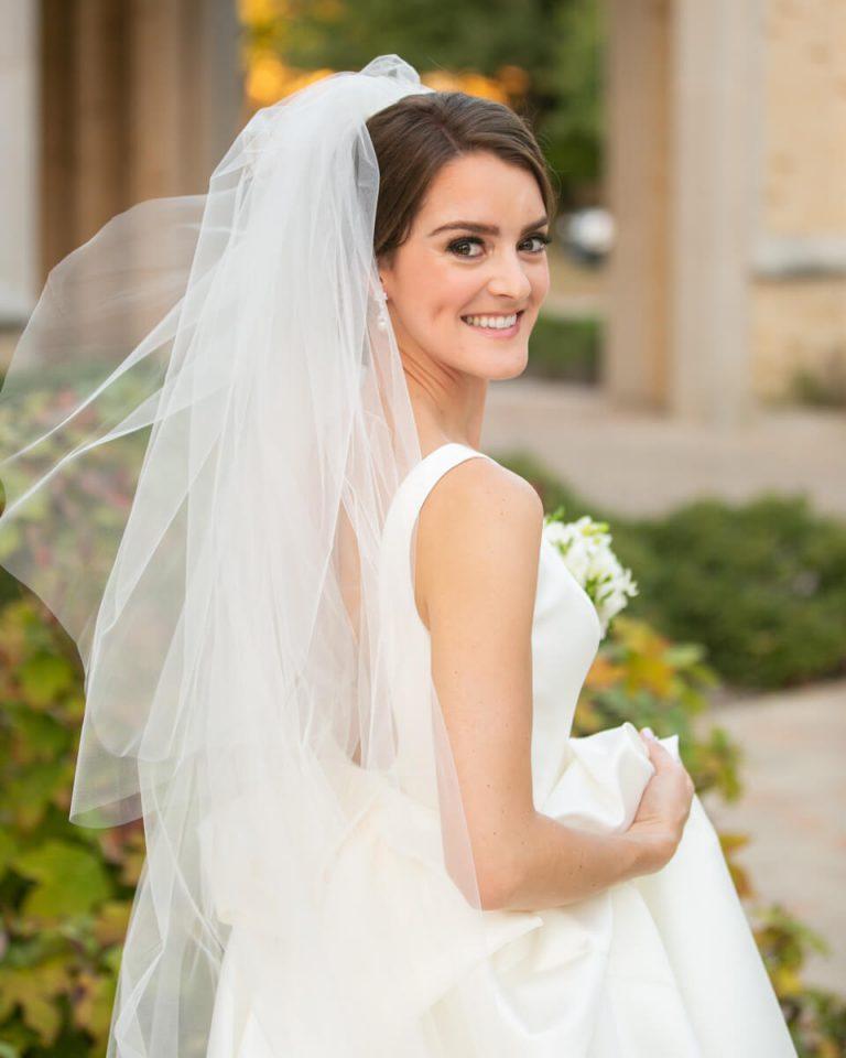 Outdoor Church Bridal Portrait