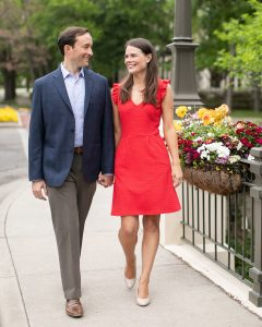 A Walk in the Park for Emily Dawson and Kevin Clock's Engagement Portraits