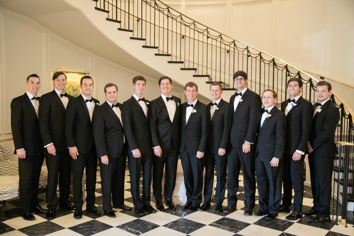 geoffrey with his groomsmen