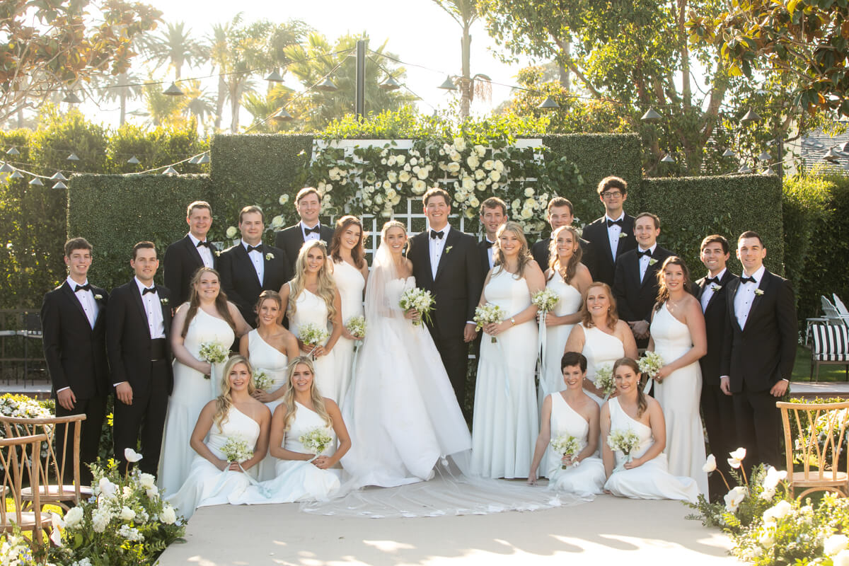caitlin and geoffrey with their wedding party