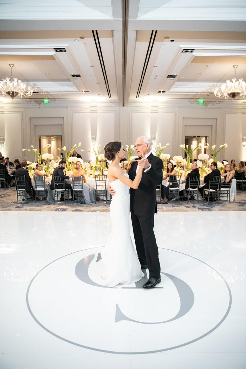 carey dancing with her father