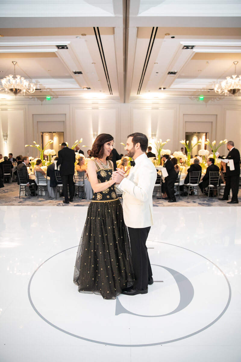 david dancing with his mother