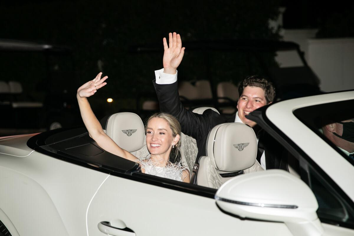 caitlin and geoffrey waving goodbye