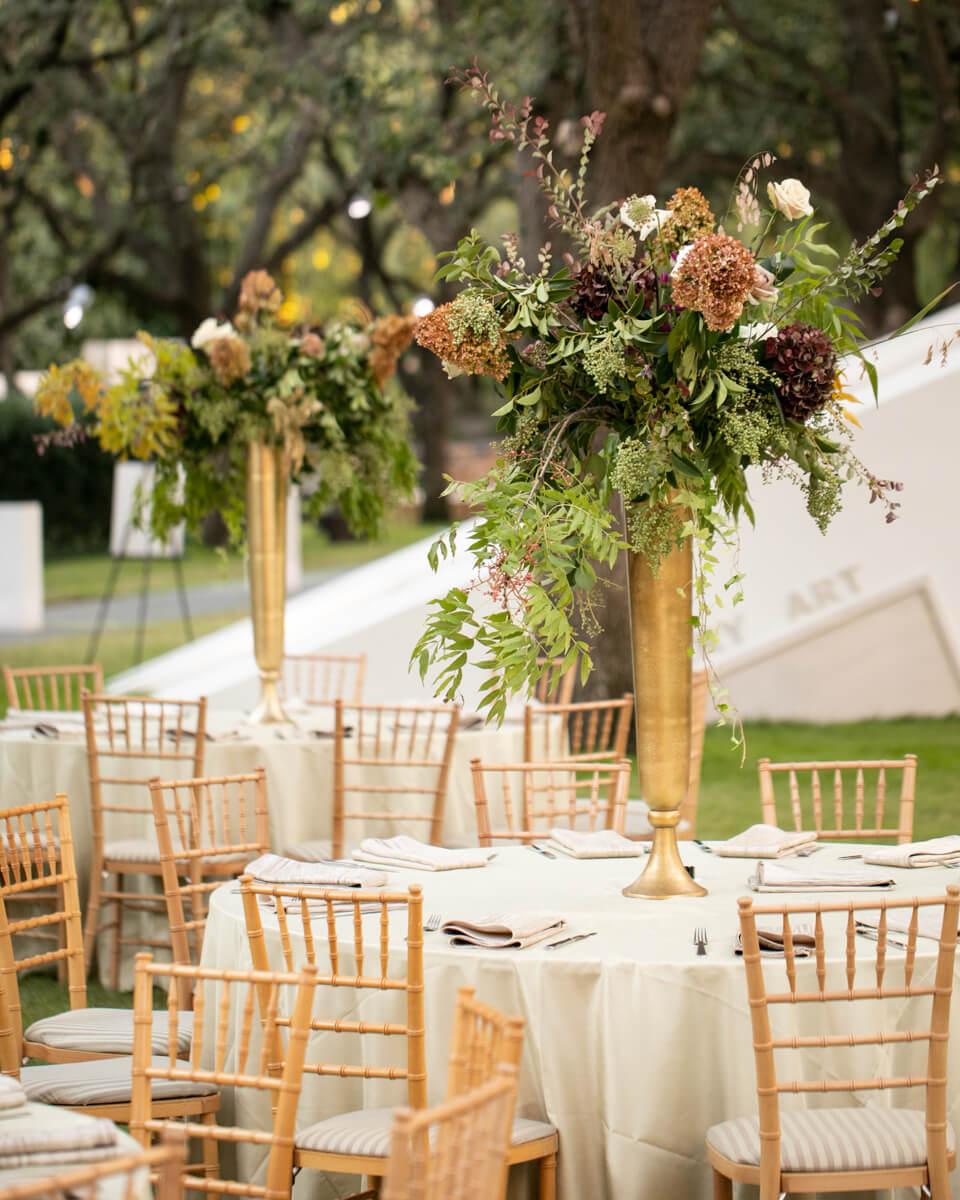 mauve floral arrangments