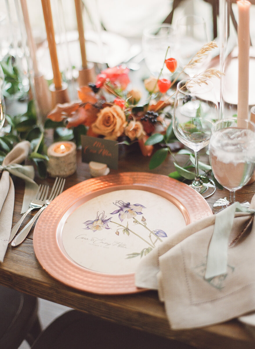 copper table setting