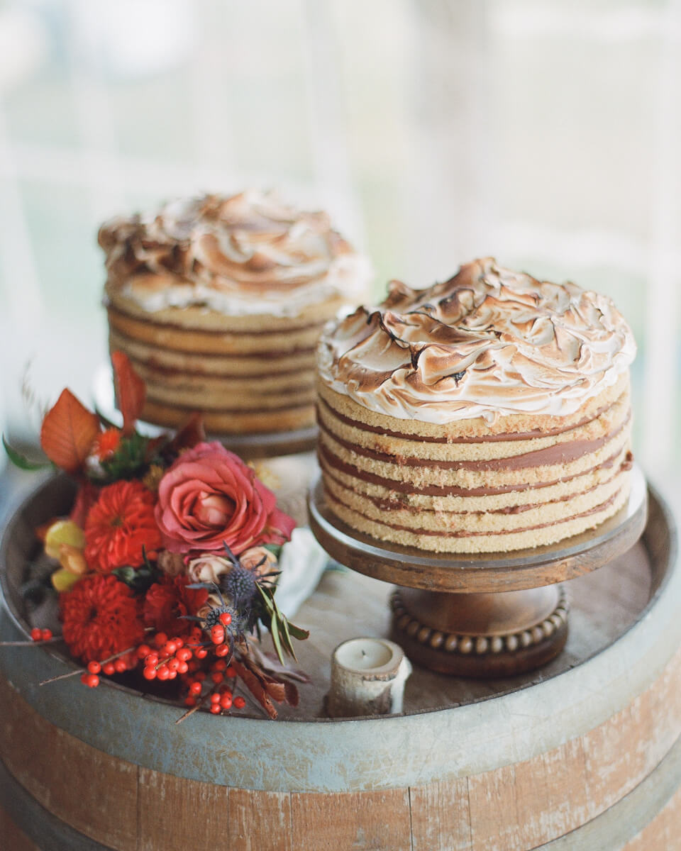 two layered cakes